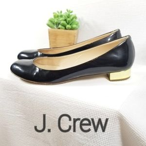 J. Crew 8 Italian Janey Patent Leather Flats 3186